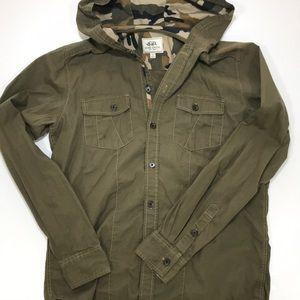 Ecko Unlimited Hooded Utility Shirt Jacket
